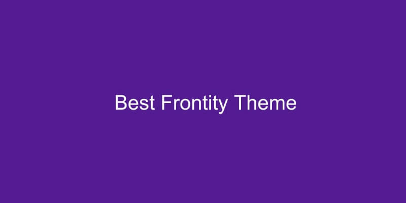 Best Frontity Themes