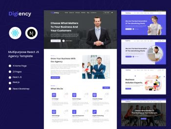 react agency template
